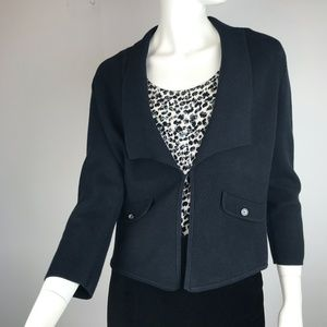 WHBM Sweater Blazer Black